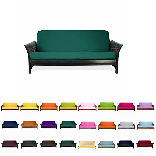 Colorful High Quality Futon Cover Slipcover (Teal Green, Full (54×75 in.))