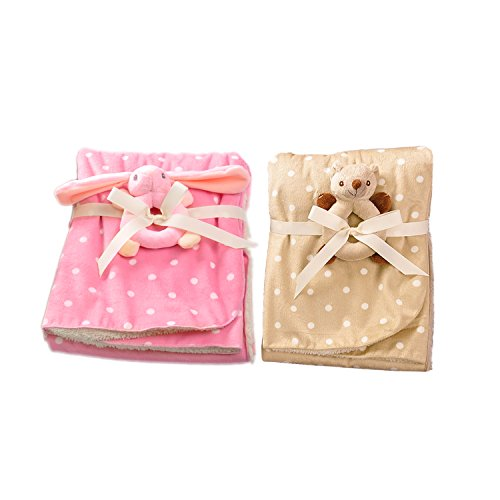 Product Choices Luxury Baby Blanket | Extremely Soft and Fluffy | Includes 2 Toys | Perfect for Infant, Toddler or Children | Premium Quality | 2 Gorgeous Blankets |