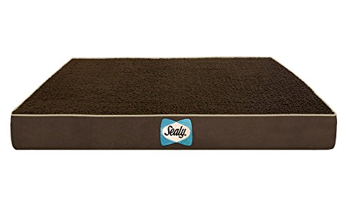 Sealy Dog Bed Dog Mattress, 36″ x 28″ x 4″, Autumn Brown