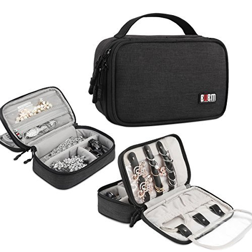 BUBM Travel Jewelry Case Accessories Holder Organizer Storage Carrying Pouch