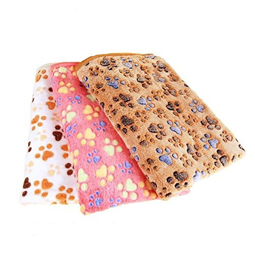 HIGHROCK Pet Blanket for Small Cats & Dogs Thick Sleep Mat, Pet Dog Cat Puppy Kitten Soft Blanket Doggy (M, brown)