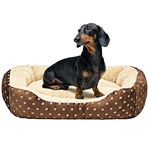 Animals Favorite Dog Bed, Luxury Embossed Rectangle Bed. Recommended for Poodles, Terriers, Dachshunds and More