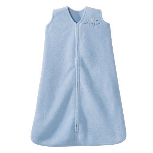 HALO SleepSack Micro-Fleece Wearable Blanket, Baby Blue, Small