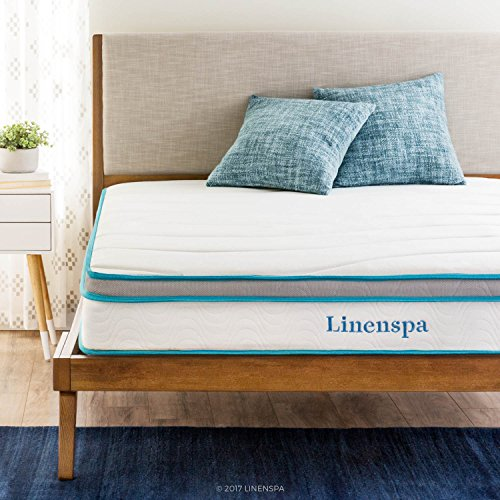 LinenSpa 8″ Memory Foam and Innerspring Hybrid Mattress, King