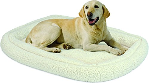 Midwest Homes for Pets Double Bolster Bed, 42″, White