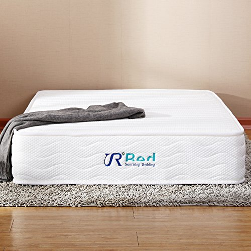 Sunrising Bedding 8 Inch Hybrid Natural Latex Independently Encased Coil Innerspring Mattress Queen Size, Not Sagging and Sink