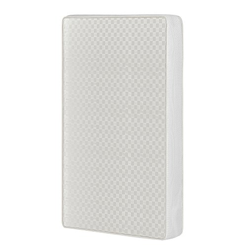 Dream On Me, 2-In-1 Breathable Two-Sided 3″ Portable Crib Mattress, White