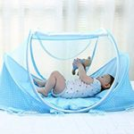 AUMEY Baby Travel Bed Little Pop up Bed Baby Bed Portable Folding Baby Crib Mosquito Net Portable Baby Cots