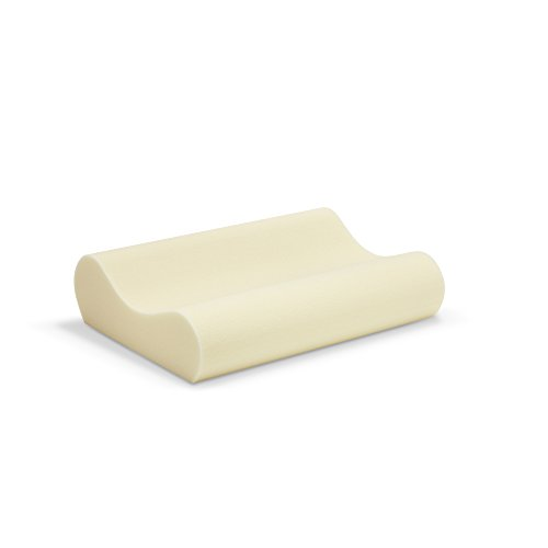 Sleep Innovations Memory Foam Contour Pillow with Cotton Cover, Made in the USA with a 5-Year Warranty – Queen Size