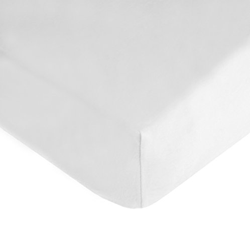 American Baby Company 100% Cotton Jersey Knit Fitted Crib Sheet for Standard Crib and Toddler Mattresses, White
