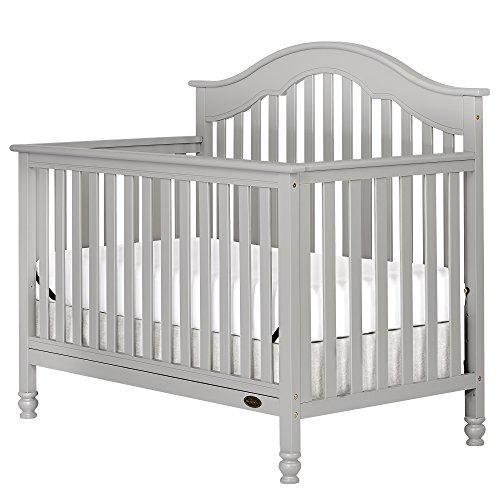 Dream On Me Charlotte 5-In-1 Convertible Crib, Grey