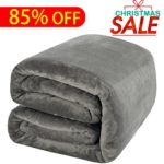 Luxury Fleece Blanket by Shilucheng Super Soft and Warm Fuzzy Plush Lightweight Queen Couch Bed Blankets – Grey