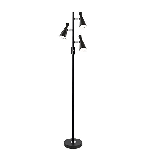 Sunllipe Three Lights LED Floor Lamp 15W Energy Efficient Standing Tree Lamp for Living Rooms and Bedrooms – 60.5 Inches Tall (Conical-shaped)