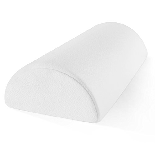 Sleep Restoration Memory Foam Half-Moon Bolster for Back & Neck Pain Relief – Wedge Pillow Provides Ultimate Support for Side and Back Sleepers – Ultra-Soft, Washable Bamboo Blend Cover