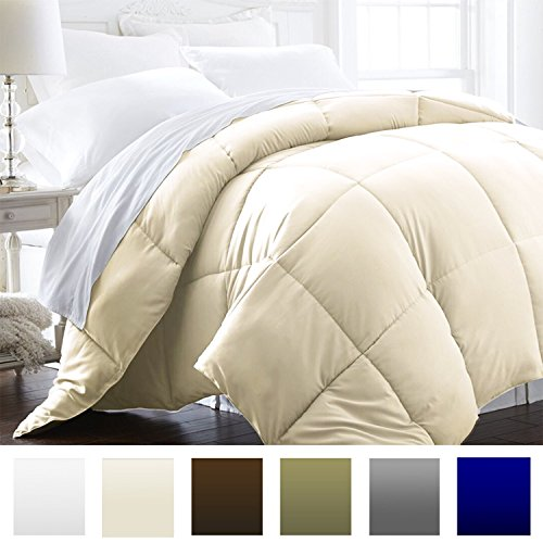 Beckham Hotel Collection 1600 Series – Lightweight – Luxury Goose Down Alternative Comforter – Hotel Quality Comforter and Hypoallergenic – Full/Queen – Cream