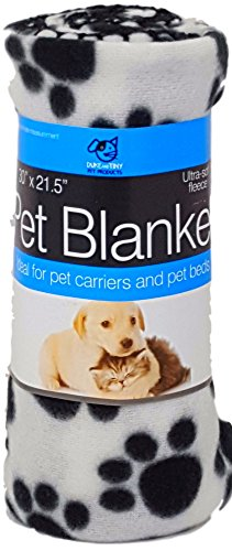 DOGS LOVE CHRISTMAS TOO! Ultra Soft Dog and Cat Fleece Blanket 30″ x 21.5″ This Small Size Pet Blanket is Great For Pet Carriers or Furniture or in Your Car (White)