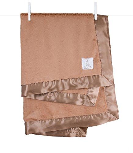 Little Giraffe Luxe Stroller Baby Blanket, Mocha, 29″ x 35″