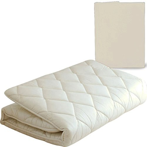 "EMOOR Japanese Traditional Futon Mattress ""Classe"" with Mattress Cover (Milk White), Full Size. Made in Japan"