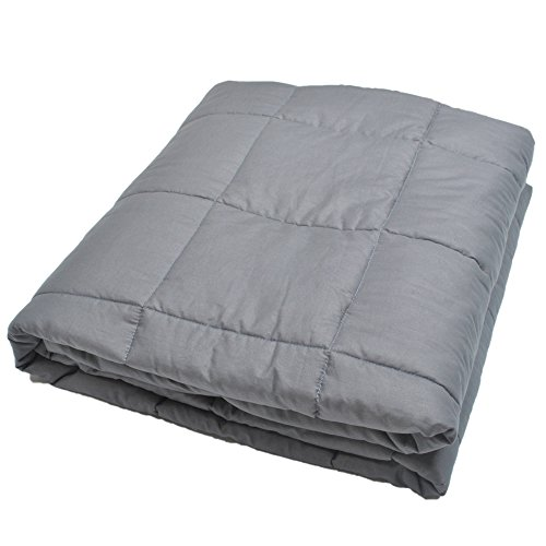 Weighted Blanket by Zonli, Weighted Sensory Blanket for adults, Cotton,Grey 48×72'' 12LBS, Stress and Anxiety Relief, Helps Calm AAD, ADHD, Autism