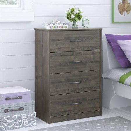 Traditional and Easy Glide 4 Drawer Dresser (Rodeo Oak)