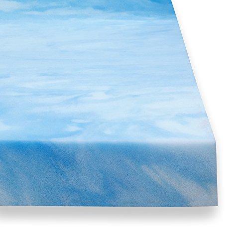 Sure2Sleep 3-LB High Density Plush Gel Memory Foam Mattress Topper Made in USA 2-Inch (twin)