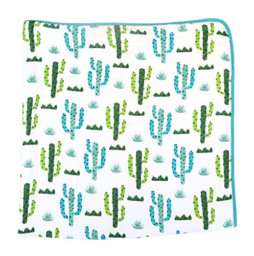 100% Organic Muslin Everything Blanket by ADDISON BELLE – Oversized 47 inches x 47 inches – Best Baby/Toddler Gift – Premium 4 Layer Muslin Blanket/Dream Blanket (Cactus Print)