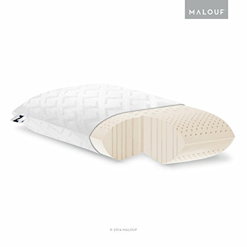 Z Zoned Memory Foam Pillow with Velour Removeable Cover – High Loft, Plush – Queen