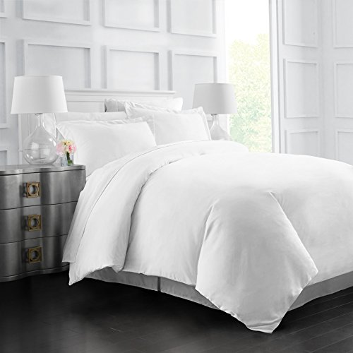 Italian Luxury Soft Brushed 1500 Series Microfiber Duvet Cover Set – Hotel Quality & Hypoallergenic with Zippered Closure & Matching Shams –King/California King – White