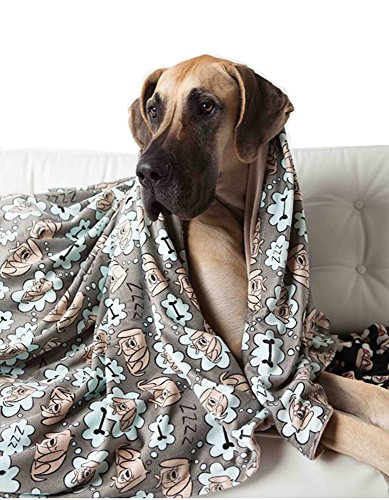 UTEX Premium Pet Dog Blanket for Small,Medium,Large Dogs, Puppy Kitten and Cats, used for Bed, Car, Couch, Sofa,Seat Protector (Sleeping Dog, Large 57″ x 47″)