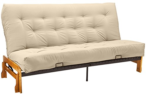 Springaire 8-Inch Loft Inner Spring Futon Mattress, Queen-size, Twill Natural Off-White Mattress Color