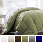 Beckham Hotel Collection 1600 Series – Lightweight – Luxury Goose Down Alternative Comforter – Hotel Quality Comforter and Hypoallergenic – King/Cali King – Olive